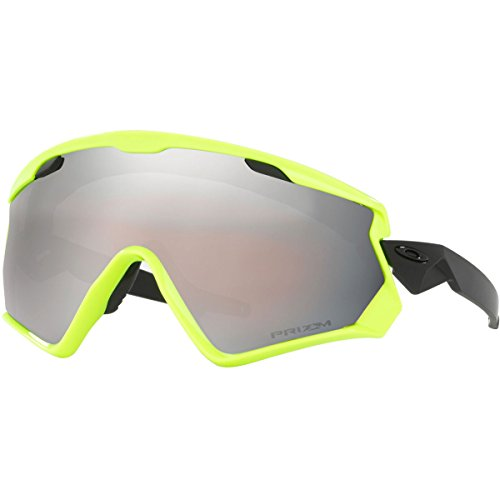 Oakley Men's Wind Jacket 2.0 Non-Polarized Iridium Rectangular Sunglasses, Neon Retina, 0 mm by Oakley