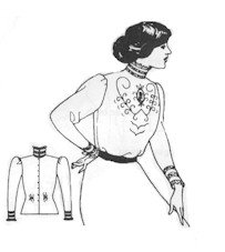 Titanic Edwardian Sewing Patterns- Dresses, Blouses, Corsets, Costumes 1910s Simple Edwardian Blouse Pattern $12.00 AT vintagedancer.com