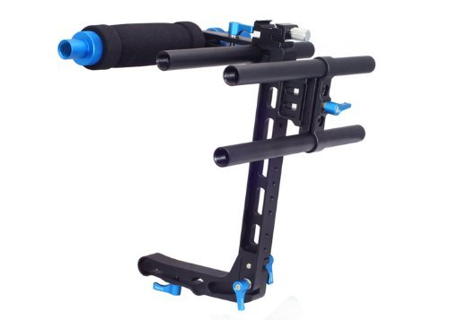 FOTGA DP500 II C-shape Cage Bracket Support for 15mm Rod Rail DSLR Rig Follow Focus