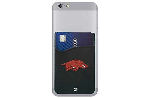 Card Credit Arkansas Razorbacks - Arkansas Razorbacks Adhesive Silicone Cell Phone Wallet/Card Holder for iPhone, Android, Samsung Galaxy, Most Smartphones