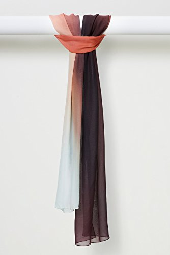 Zen Dreams Sunset Pure Silk Chiffon Scarf in Sunset by Louis Jane  (''Where Nature Meets Art''TM)