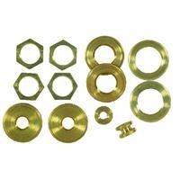 WESTINGHOUSE LIGHTING CORP Westinghouse 70153 Angelo Brothers Lamp Locknuts Solid Brass Assortment