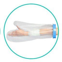 Bandage Protector Arm (Cast Cover Protector Waterproof Arm Bandage Prosthesis Sleeve in Shower for Adult Kids Broken Hands, Wrists, Fingers, Wounds, Burn (25.5