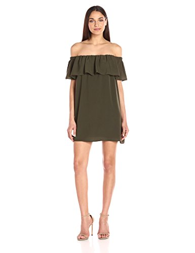 Woodland Connection Dress Summer Women's Ots Light Crepe Green French 0w1dqT1