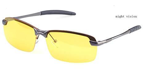 F de Sol Gafas Viajes Gafas de Sol Gafas Gafas Hombres Gafas de de KOMNY de Espejo Sol polarizadas Hombre Accesorios F anteojos conducción Nocturna de gdvxwBBq