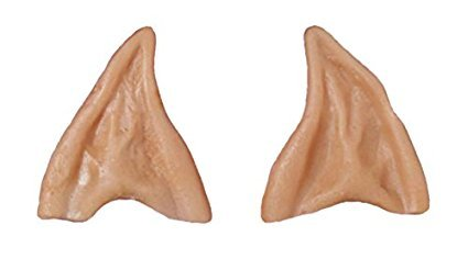 Adult Latex Alien Elf Fairy Spock Pointy Ear Tips LARP -