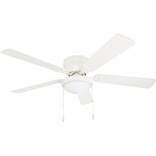"Portage Bay 50254 Hugger 52"" White West Hill Ceiling Fan with Bowl Light Kit"