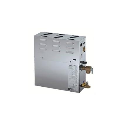 Image of Mr. Steam SAH4500C1 Steam At Home 4.5-Kilowatt 240-Volt 1-Ph Steam Bath Generator with Control and Aroma Steam Head LED Bulbs