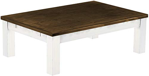 - Brazilfurniture Coffee Table Rio, 47.2 x 31.5 Oak Antique White Solid Pine Wood Oiled, Modern Wooden Office Conference Desk Kitchen