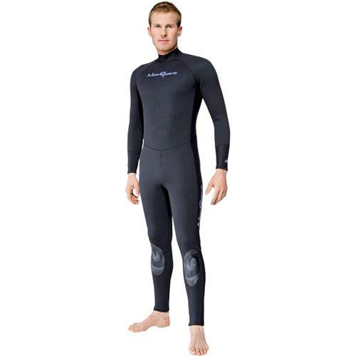 NeoSport Wetsuits Men's Premium Neoprene 1mm Full Suit, Black, X-Large - Diving, Snorkeling & Wakeboarding