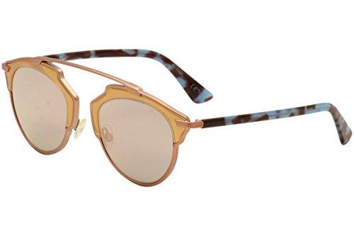 Dior RJP Matte Pink Blue Havana So Real Aviator Sunglasses