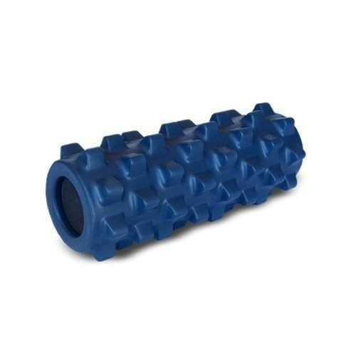 RumbleRoller - Half Size 12 Inches - Blue - Original - Textured Muscle Foam Roller - Relieve Sore Muscles- Your Own Portable Massage Therapist - Patented Foam Roller Technology