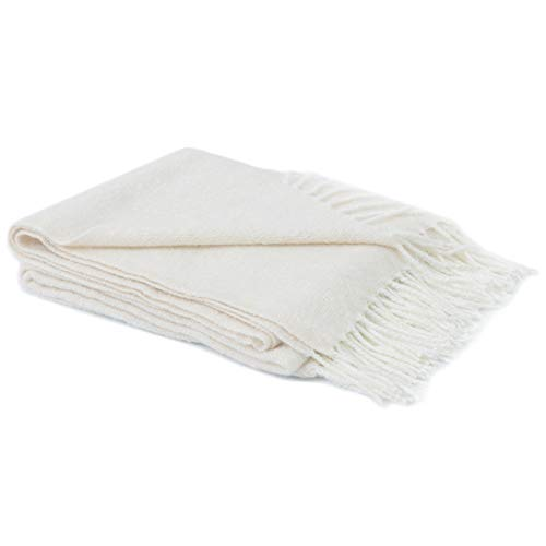 Cheer Collection Extremely Soft Knit Throw Blanket with Decorative Fringes - 50