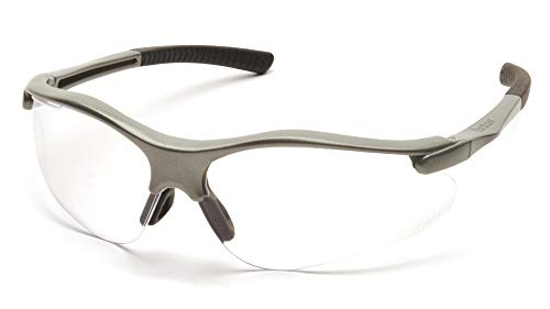 (Pyramex Fortress Safety Eyewear, Clear Lens With Gray Frame)