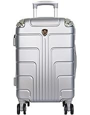 Maleta de Viaje Hardside Equipaje Rígido Resistente 4 Ruedas Giratorias 360 Color plata