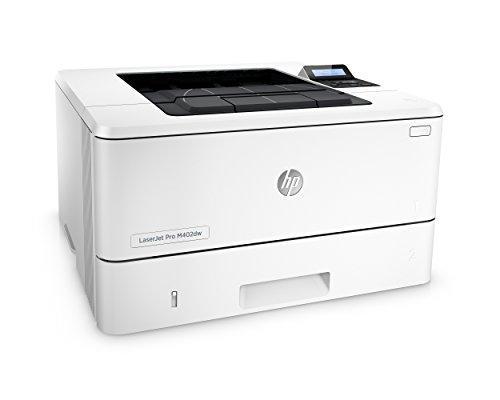 HP LaserJet Pro M402dw Wireless Laser Printer with Double-Sided Printing, Amazon Dash Replenishment ready (C5F95A) 3 FEATURES DESIGNED FOR YOUR BUSINESS: Monochrome laser printer, 2-line display with keypad, wireless printing, duplex printing FAST PRINT SPEED: print up to 40 pages per minute. First page out in as fast as 6.4 seconds. SOLID SECURITY: Keep printing safe from boot up to shutdown with security features that guard against complex threats.