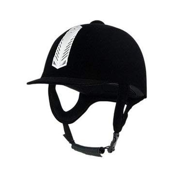 56-60CM Removable Lining Breathable Horse Riding Hat Adjustable Safe Helmet - Outdoor Recreation Horse Racing - (M) - 1 x Horse Riding Helmet, 1 x Bag, 1 x Use -