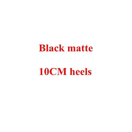 3' Platform Black Pump - Sunshine-Family Sexy Women Thin High Heels Patent Women Pumps Shoes,Black Matte 10Cm,4
