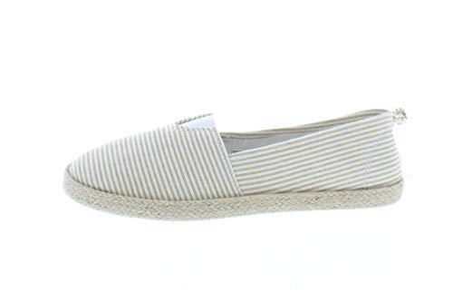 Gold Toe Women's Rani Canvas Alpargatas Espadrille Flat Casual Summer Style Comfy Slip On Walking Shoe Tan 8 US