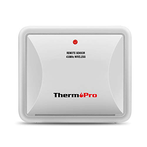 ThermoPro TX-2 Fitting Rainproof Transmitter TP60S/TP65 Thermometer Humidity Monitor, Battery Included,(Accessory Only, Can NOT Be Used Alone) ()