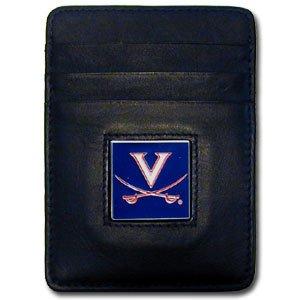 Virginia Cavaliers Money Clip - NCAA Virginia Cavaliers Leather Money Clip/Cardholder