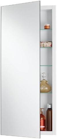 Jensen 1035P34WH Cove Single-Door Recessed Medicine Cabinet, White