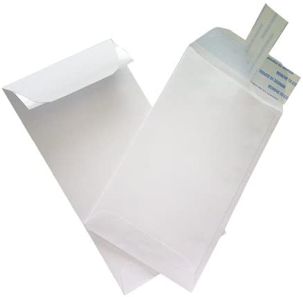 Pack of 100 #7 Coin White Peel /& Seal Envelopes for Small Parts Cash Jewelry Etc