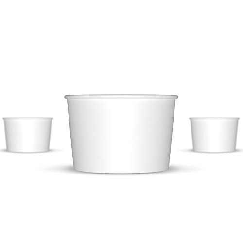 4 oz Ice Cream Cups, Small White Paper Cups, Kids Birthday Party Cups, Frozen Dessert Cups, Disposable Containers, Great For Ice Cream, Frozen Treats And Much More! (Frozen Yogurt Paper Cups compare prices)