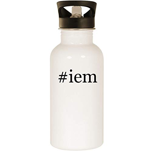 - #iem - Stainless Steel Hashtag 20oz Road Ready Water Bottle, White