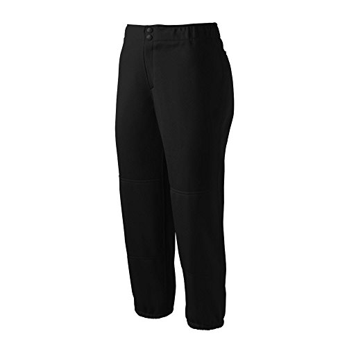 Mizuno Select Non-Belted Low Rise Fastpitch Pant (X-Small, Black) Fastpitch Pant