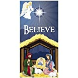 "6' Nativity Scene ""Believe"" Door Banner"