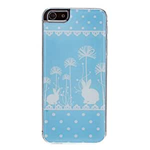 MOFY-Conejo En El Patr—n Dandelion epoxy duro caso para iPhone 5/5S