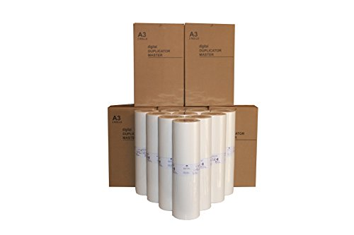 10 Wholesale Widgets Brand A3-LG Masters, Compatible with Riso S-4363 Z-type for use in Risograph MZ790, RZ390, RZ590, and RZ790 Duplicators. This Is a Case of 10 Masters.