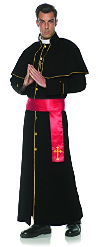 Underwraps Men's Deluxe Priest Robe Costume-Father, Red,