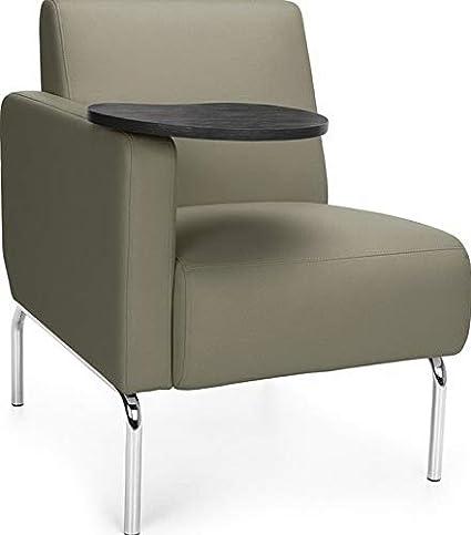 Surprising Amazon Com Mikash Left Arm Modular Lounge Chair With Taupe Machost Co Dining Chair Design Ideas Machostcouk