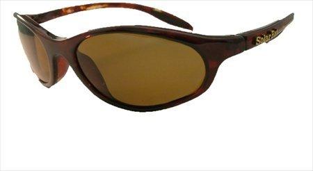 Solar Bat 602PGB Golf Performance Curve Golf Brown Sunglass ()