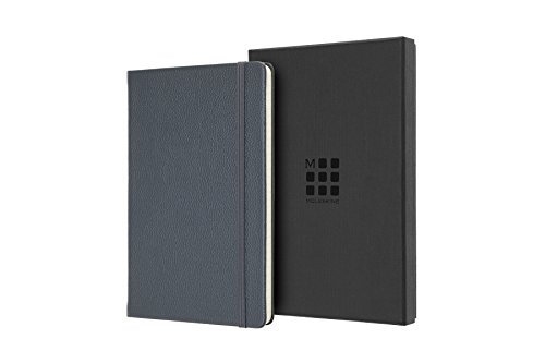 Moleskine Classic Premium Leather Limited Edition Large Rule Notebook, Avio Blue ()