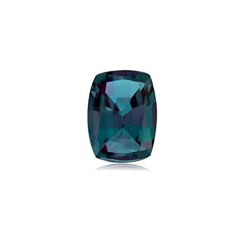 Mysticdrop 0.61-0.75 Cts of 6.0x4.0 mm AAA Cushion Cut Lab Created Alexandrite (1 pc) Loose Gemstone