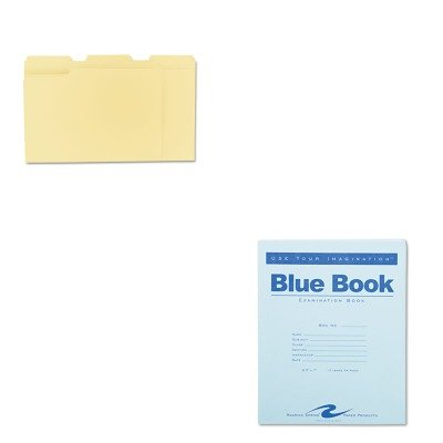 KITROA77513UNV12113 - Value Kit - Roaring Spring Exam Blue Book (ROA77513) and Universal File Folders (UNV12113) by Roaring Spring