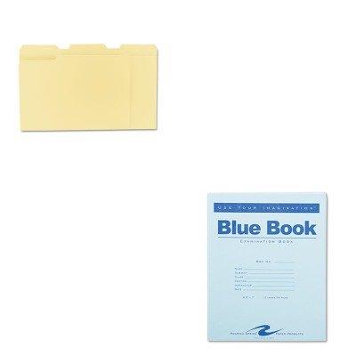 KITROA77513UNV12113 - Value Kit - Roaring Spring Exam Blue Book (ROA77513) and Universal File Folders (UNV12113)