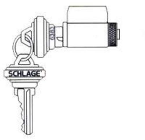 Schlage 29-018 F Series Cylinder, Satin Brass