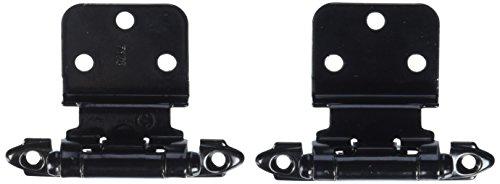 Amerock BP7128-BK Black Cabinet Hardware Hinge 3/8