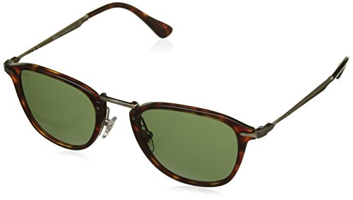 Persol PO3165S 24/31 Havana PO3165S Round Sunglasses Lens Category 3 Size - For Persols Women