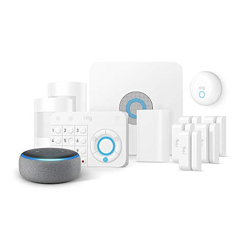 Ring Alarm 11 Piece Kit + Echo Dot (3rd Gen), Works with Alexa
