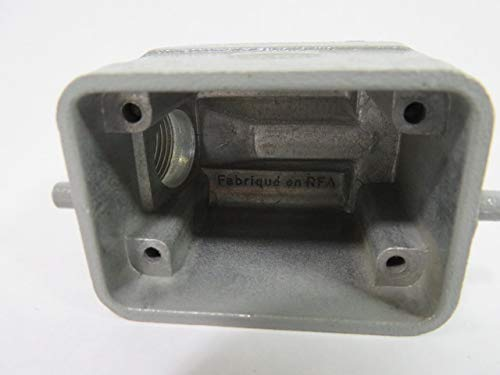 HARTING 19628061540 Aluminium; Product Range:HAN EMC//B Side Entry HIGH Temp Series; Cable EXIT Angle:90 ; Connector Body Material:Aluminium Body; for USE with:HAN 6B Inserts /& Bases; LOCKI Hood