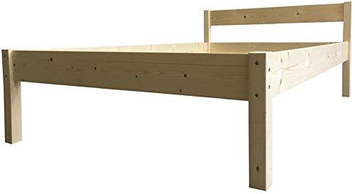 LIEGEWERK Seniorenbett erhöhtes Bett Holz mit Kopfteil Betthöhe 55cm massiv 90 100 120 140 160 180 200 x 200cm hergestellt in BRD (180cm x 200 cm, Betthöhe 55cm)