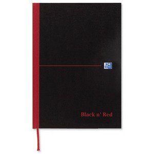 Black n Red Book Casebound 90gsm Ruled 192 Pages A6 Ref C66655 [Pack 5]