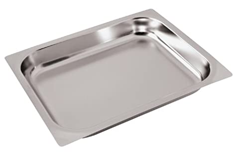 Paderno World Cuisine 14 inches by 12 1/2 inches Stainless-steel Baking Sheet for Hotel Pan - 2/3 (depth: 2 1/2 - 2/3 Baking Pan