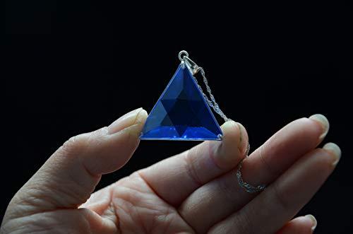 (Blue Siberian Crystal Quartz Star of David Marcel Vogel Cut 1.22 Inch 925 Silver Sterling)