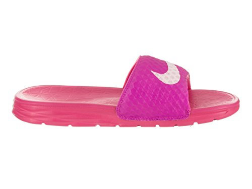 Nike Dames Benassi Solarsoft Slide Sandaal Vuurroze / Prisma Roze